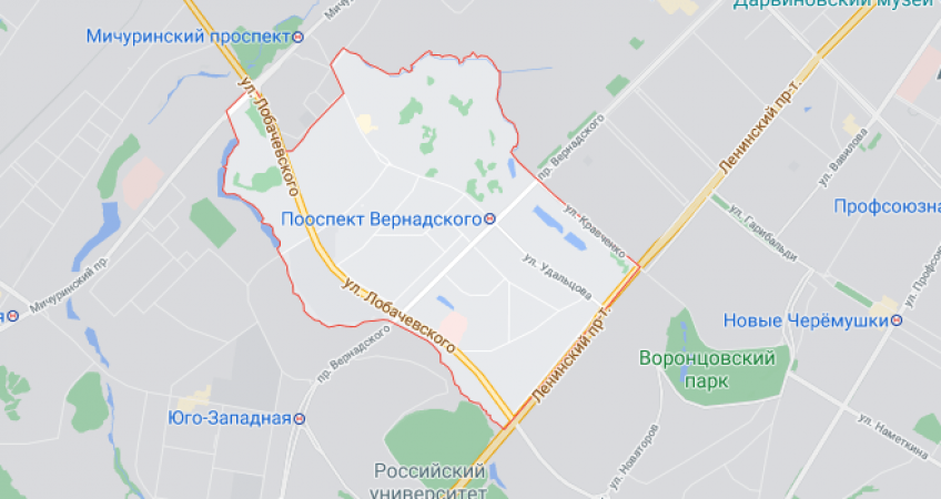Эвакуация в районе проспекта Вернадского