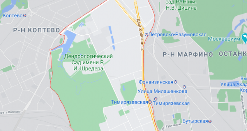 Эвакуация в Тимирязевском районе