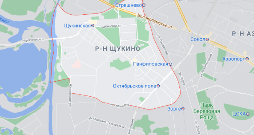 Эвакуация в Щукино