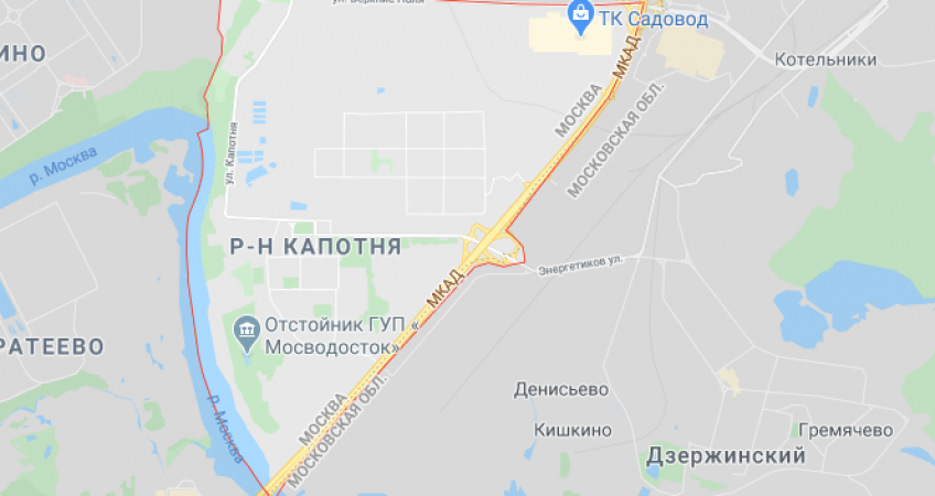 Эвакуация в районе Капотня